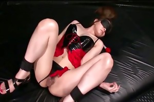china mimura is tied and toyed whilst blindfolded