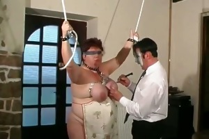 tied up bulky older wench enjoying part4