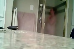 my mum caught on shower spy livecam