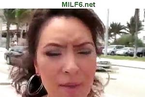 milf hunter picks up youthful brunette hair d