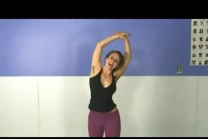 a yoga hotty with hairy armpits
