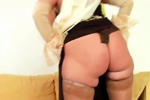 teasing and stipping wicked granny