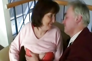 old grandfather fuck this excited granny slut