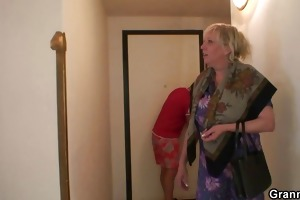 nasty granny takes new shlong