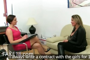 aged woman fucking on leather bigbed