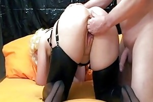 fisting the wifes gaping cunt till she is orgasms
