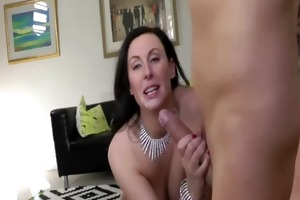 nylons milf facialized