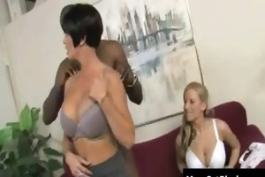 breasty hot milfs have a fun darksome cockhard