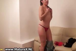 hawt dark brown mother i stripping touching part2