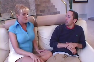 excited housewife pounder slurping
