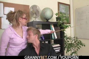 office lady receives nailed at the table