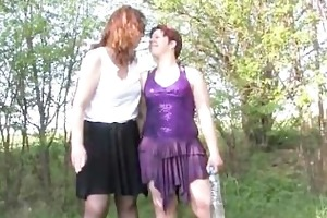 slutty old mamma receives ribald with a lesbo