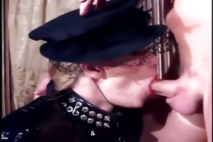 fetish sex in fishnet nylons and shiny latex