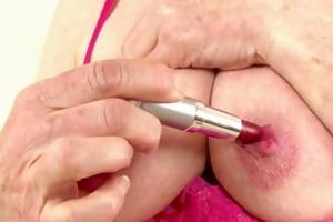 gilf pearl disrobes off her lingerie