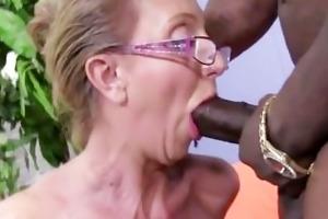 hawt cougar jenna covelli seduces large darksome