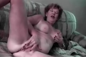 unsightly old woman and youthful horny boy