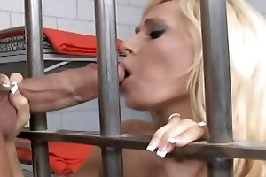 blond milf fuck a hard wang in jail