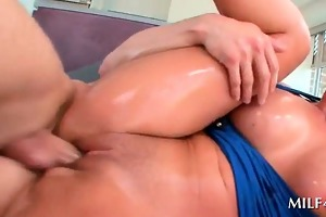 oily fastened up mother i snatch fucked hard from