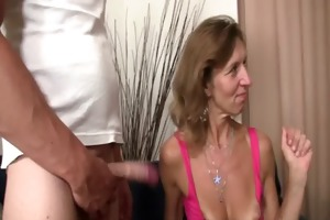 she is watches her old mamma receives screwed