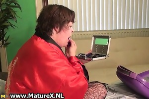 older dissolute breasty mama puts make part2