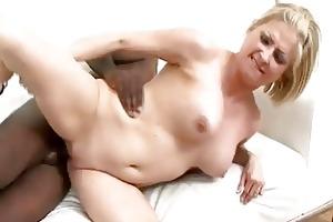 blonde mother i sucks and bonks a large black cock
