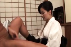 nippon oriental older gives tit job to favourable