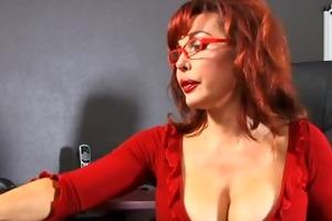 cute pecker sucking redhead takes cumshot from