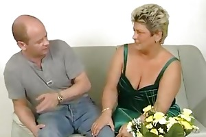 bulky older housewife squirms
