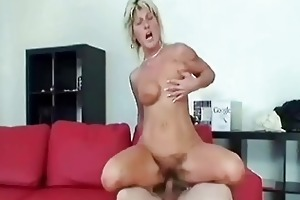 granny swallows a large knob and copulates it is