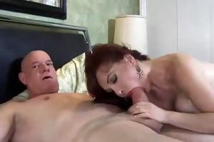 vanessa sucking and fucking for cum