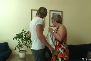 lonely granny receives drilled in various