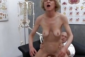 older granny golden-haired marie fucking with
