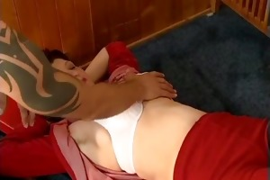 concupiscent housewife going crazy engulfing
