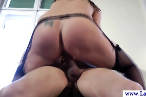 euro aged in nylons receives screwed