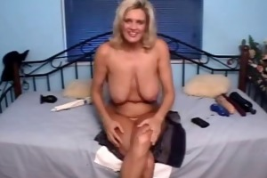 lose milf twat with gigantic darksome vibrator in