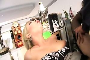 blonde secretary donna bell receive her cookie