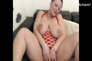 sexy milf with biggest mounds masturbates on cam