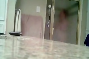 my mum caught on shower spy livecam