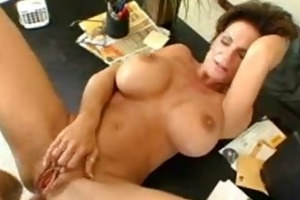 deauxma on her office desk