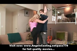 blond d like to fuck does yoga and oral-job for