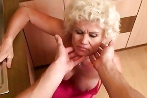 sexually excited granny in hard pov act