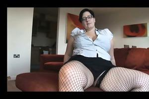 breasty older big beautiful woman in fishnet