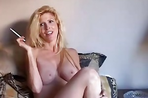 gorgeous blond d like to fuck enjoys a smoke break