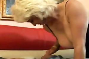 older dana hayes swallows cum