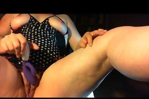 older wife masturbates for spouse toys benwa balls