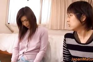 japanese older woman has cute