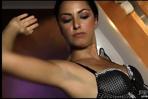 tempting angel in corset getting gangbanged by