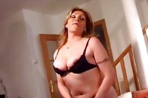 breasty older non-professional wife toys a...