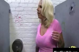 gloryhole - breasty hawt milfs engulf and fuck