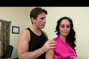 sexy lustful executive ava addams massaged and